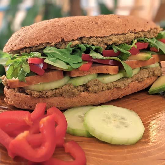 Healthy spelty sendvič