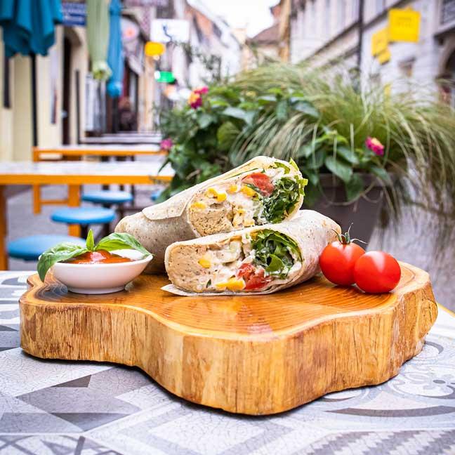 oriental hummus wrap